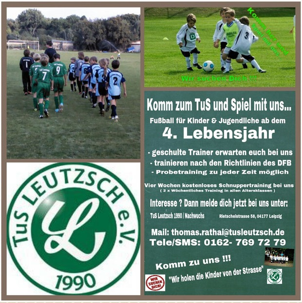 tus leutzsche news junioren 1 flyer 1 leipzig tgs webdesign